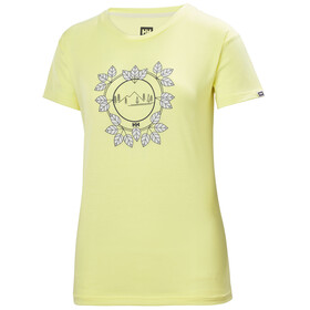 Helly Hansen Skog Graphic Camiseta Mujer, yellow pear